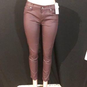 NWT 7 FIR ALL MANKIND Wax Coated Skinny Jeans